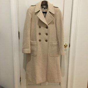 DKNY Oat Color 100% Wool Coat Size 6